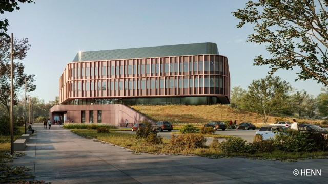 Planned design for the research building